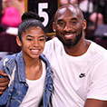Kobe with his daughter