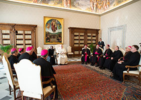 Bishops with Pope Francis