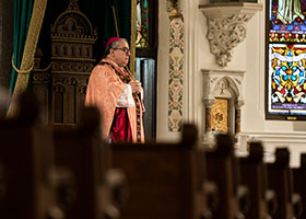 Bishop Olson, empty pews