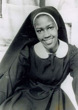 Sr. Thea Bowman as postulant