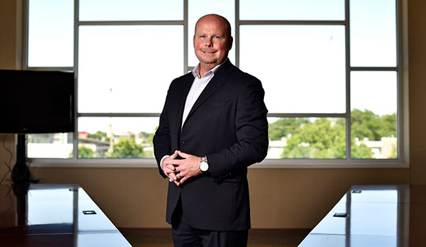 Catholic Charities Fort Worth new chief executive officer Michael Grace, at its headquarters in Fort Worth, May 30, 2019. (NTC/Ben Torres)