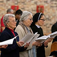 Sisters chant during Vespers for World Day of Consecrated Life at St. Bartholomew parish February 7.