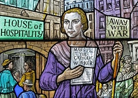 dorothy day stained glass