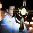 Father Mike Schmitz during Adoration