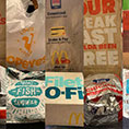 fast food wrappers
