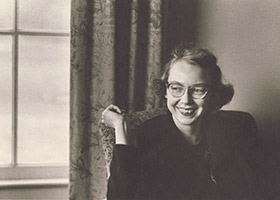 "Flannery O'Connor is seen in this undated photo. ""Flannery,"" a documentary about the life and writings of Catholic writer O'Connor, opens in select virtual cinemas nationwide July 17, 2020."