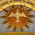 A likeness of the Holy Spirit is seen at the Cathedral of St. Paul in St. Paul, Minn.