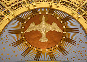 A likeness of the Holy Spirit is seen at the Cathedral of St. Paul in St. Paul, Minn. (CNS photo/Dave Hrbacek, The Catholic Spirit)