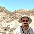 Joseph Moreno at the Qumran Caves, where the Dead Sea Scrolls were found