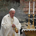 Pope Francis with thurible