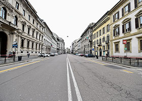 empty street in Milan