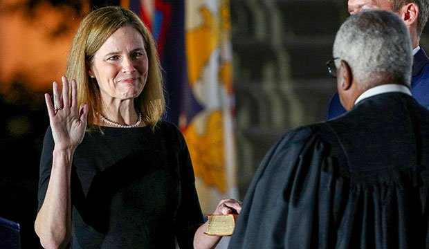 Supreme Court Justice Amy Coney Barrett gets sworn in