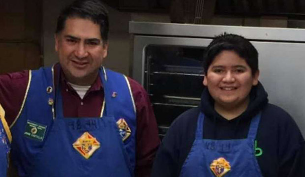 Kendrick Castillo and his father, John Castillo. CNA photo courtesy of Knights of Columbus #4844
