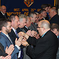 Knights of Columbus receive rosaries in their initiation ceremony