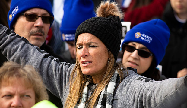 woman at March for Life