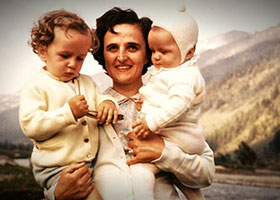 St. Gianna Molla with two children