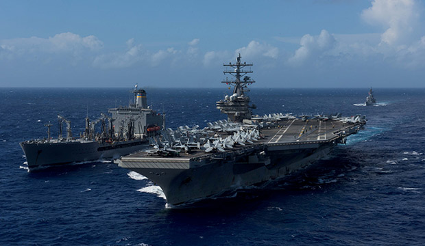 U.S. Navy aircraft carrier USS Ronald Reagan