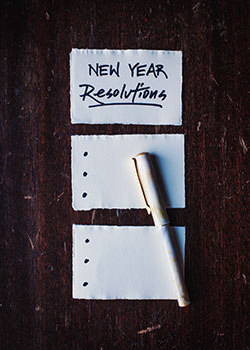 New Year resolution list