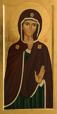 This is an image of Our Lady of Silence.