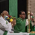 Deacon Anastasio Perez and Fr. Raul Martinez Lopez