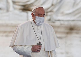 Pope Francis in mask