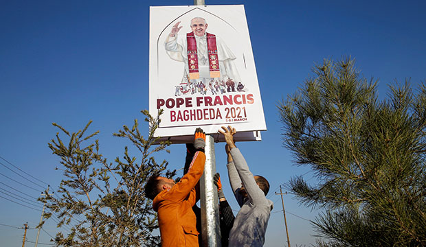 pope banner