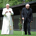 Pope Emeritus Benedict XVI and his brother, Msgr. Georg Ratzinger