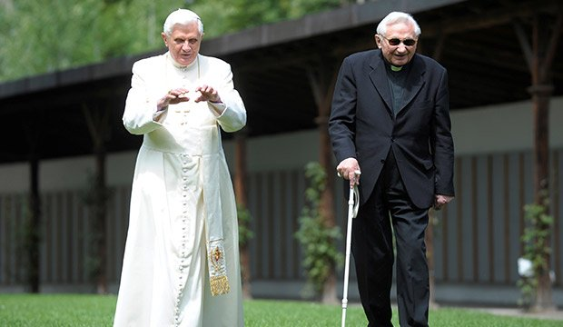 Pope emeritus Benedict XVI and his brother Georg Ratzinger