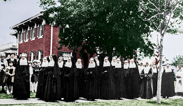 Sisters of St. Mary of Namur are seen in North Texas in this undated NTC file photo