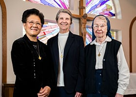 Sister Clara Vo, Sister Rosemary Stanton, Sister Louise Smith