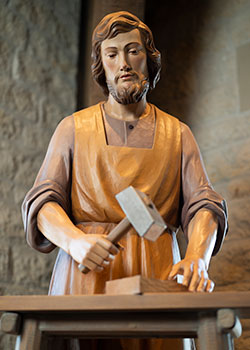 St. Joseph at his workbench