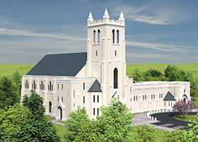 A rendering shows the future home of St. Philip the Apostle Parish. ( Courtesy/St. Philip Parish)