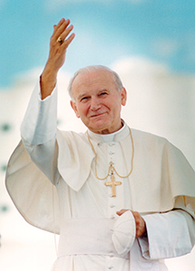 Blessed John Paul II (CNS photo / Joe Rinkus Jr.)