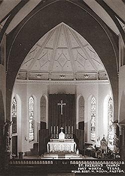 Historic photo of altar of St. Patrick Cathedral