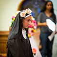girl dressed as St. Rose of Lima