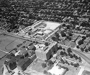 aerial view of medical district, 1938
