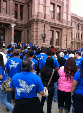 Catholic Diocese of Fort Worth among participatants in Texas Catholic Conference advocacy day.  (Photo by Pat Svacina)