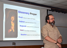 Dan Burke, EWTN's President and Chief Operating Officer and an award-winning author of books on Catholic spirituality, presented a mini-retreat on prayer Sept. 7 at the St. Mary Parish in Windthorst.