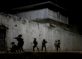 "U.S. Navy SEALs are portrayed in a scene from the movie ""Zero Dark Thirty."" The Catholic News Service classification is L -- limited adult audience, films whose problematic content many adults would find troubling. The Motion Picture Association of Ameri ca rating is R --restricted. Under 17 requires accompanying parent or adult guardian.(CNS photo/Sony)"
