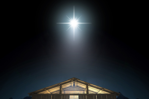 bright star above manger