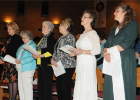 25th anniversary committee members, Sandra Mitchell Delores Sutton Ann Gowdy Mary Harvy Diane Ashour