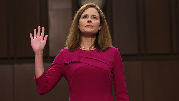 Judge Amy Coney Barrett of the U.S. Court of Appeals for the 7th Circuit, President Donald Trump's nominee for the U.S. Supreme Court, is sworn in for her confirmation hearing before the Senate Judiciary Committee on Capitol Hill in Washington Oct. 12, 2020. (CNS photo/Win McNamee, Pool via Reuters)