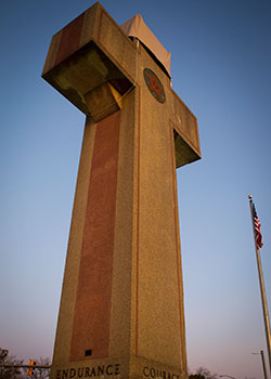 A cross-shaped World War I memorial, a landmark in Bladensburg, Md., is pictured in this 2017 photo. In a 7-2 vote, the U.S. Supreme Court ruled June 20 in favor of preserving a historic cross-shaped memorial, saying the cross did not endorse religion. (CNS photo/Chaz Muth)
