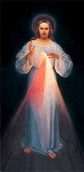 In her diaries, Sister Faustina explained the inspiration for the Image of Divine Mercy shown here. (Courtesy Kondrat-Media)