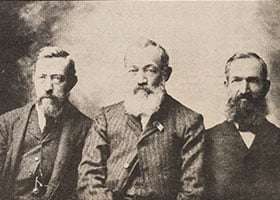 The Flusche brothers (August, Emil, and Anton), who originally hailed from Westphalia, Germany, were instrumental in helping establish parishes and communities in Muenster, Pilot Point, Lindsay, and Mount Carmel. (NTC archives)