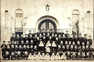 Sisters of Charity of the Incarnate Word not only excelled in caring for the ill, they also cared for orphaned children. This photo was taken circa 1900 at their orphanage in San Antonio. (Courtesy/Sisters of Charity of the Incarnate Word)