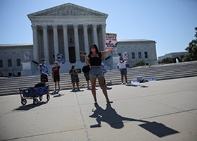 pro-life advocates at Supreme Court