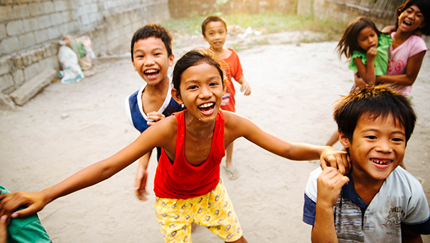 Children from the Philippines play in their neighborhood. (Avel Chuklanov/Unsplash)
