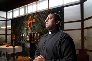 A missionary himself, Father Brijil Lawrence, SAC, is the director of the Diocesan Office of Pontifical Missions. (NTC/Juan Guajardo)