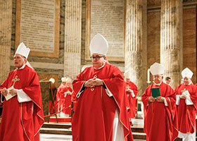 Bishop Olson with brother bishops